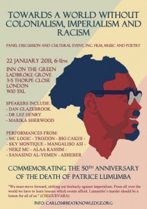 Commemorate the death of Lumumba